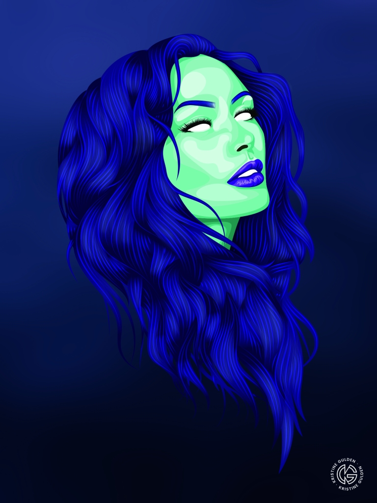 blådame